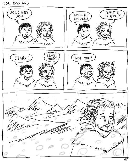 You know nothing Jon Snow. You Bastard. tou Ait