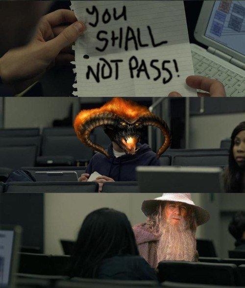 you shall not pass facebook. .