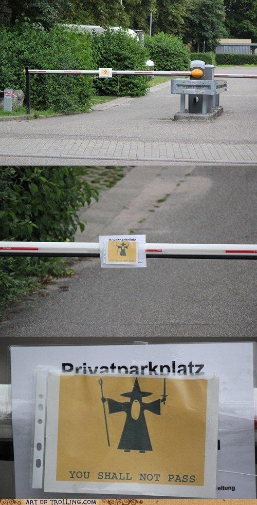 You shall not pass!. . l. :,illillillillillill