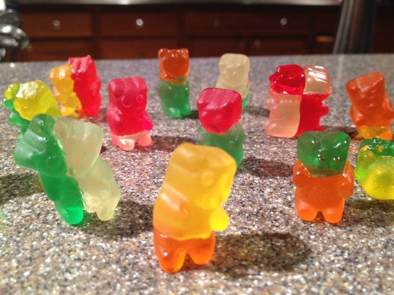 Zombie Mutant Gummy Bears. .. really