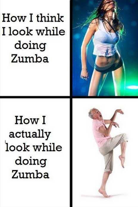 Zumba. . How I actually while doing chunga