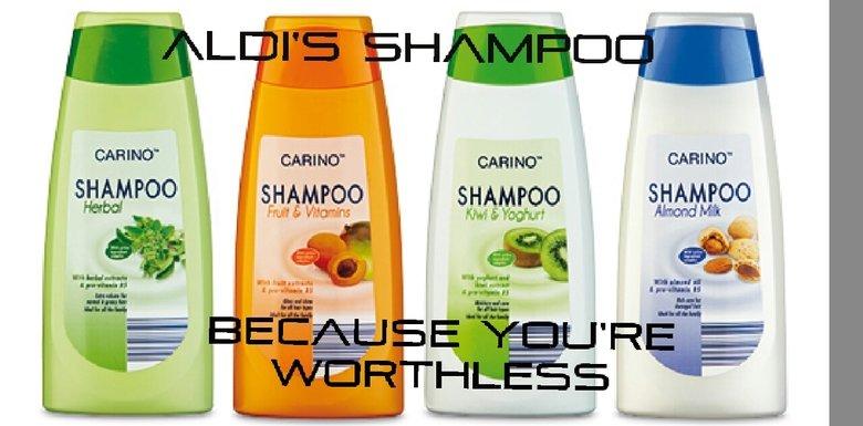 aldi's shampoo. .