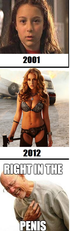 Alexa Vega. .. That's some high level armor she's got on.
