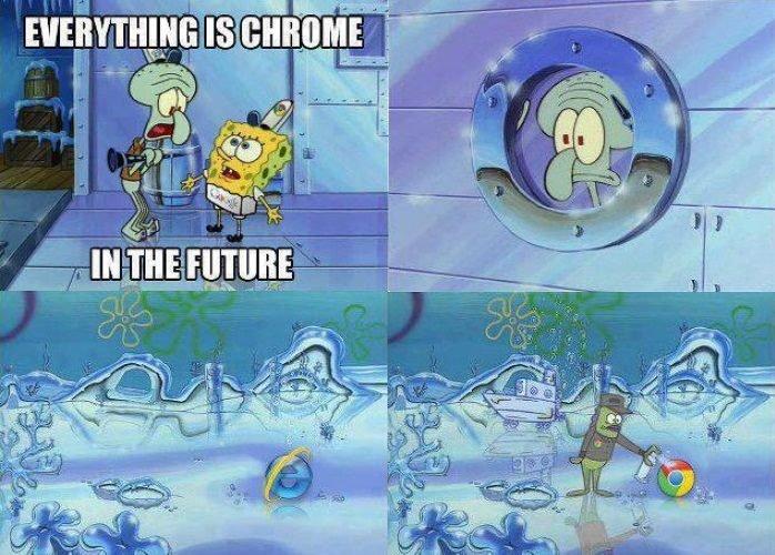 All Chrome Everythang. Sadly my dad uses internet explorer.....i judge him..