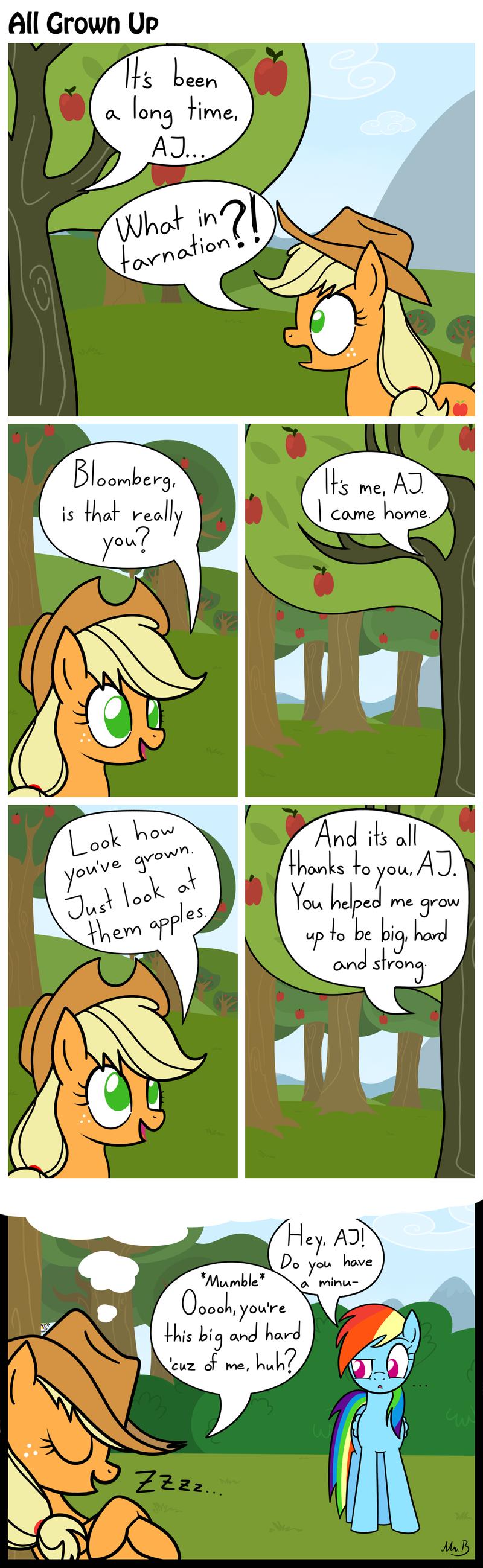 All grown up. Created By ~> <- Credits.. And then Rainbow Dash got rejected by Applejack, OOOOoooOooOOoOOOoooooOoooo!