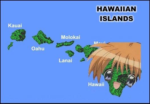 Am I Not Hawaii-Desu?. Let's here all those bad anime puns =DDD. HAWAIIAN. Hawaii is lookin pretty kawaii