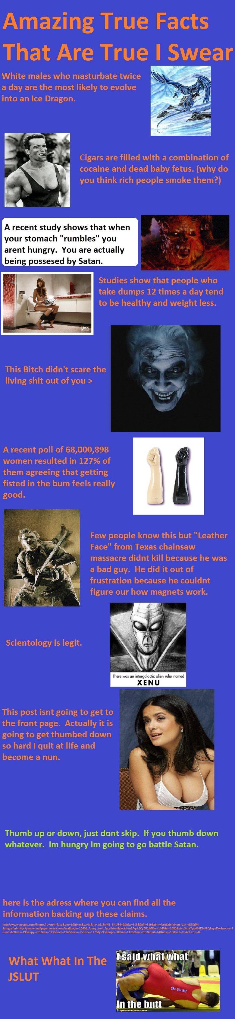Amazing True Facts Comp 1. part 2:funnyjunk.com/funny_pictures/2691901/Amazing+True+Facts+Comp+2/ Part 3: funnyjunk.com/funny_pictures/2693945/Amazing+True+Fact