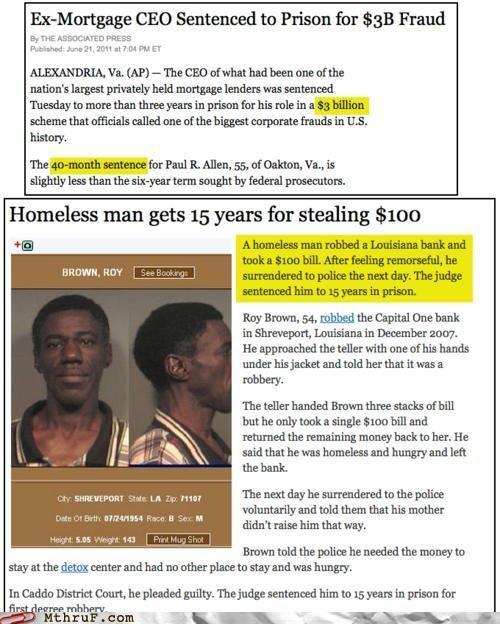 America. Ridiculous. CEO Sentenced tn Prison fer Fraud ALEXANDRIA. Va, ts. ait. rbe. mt hinder. Ewan. Homeless man gets 15 years for stealing funk: 'uuota. atte