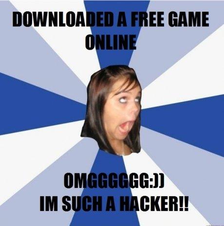 Annoying Facebook Girl. .