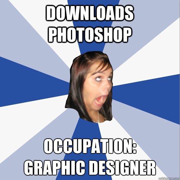 annoying facebook girl. . PHOTOSHOP