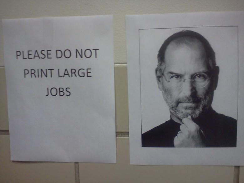apple. . V PLEASE no NOT PRINT LARGE JOBS. wut