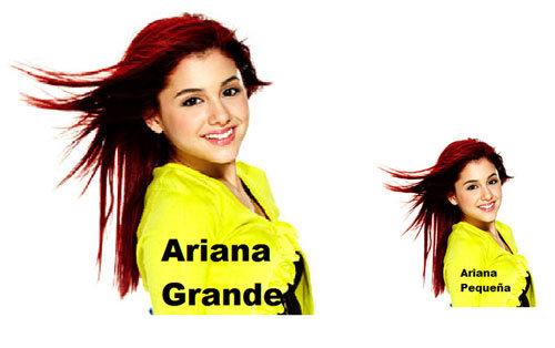 Ariana Grande. .. Or petite. Or piccola.