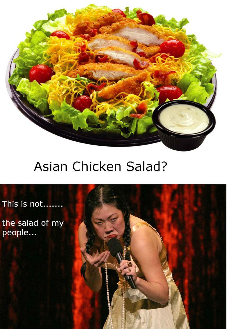 asian chicken salad. margaret cho.