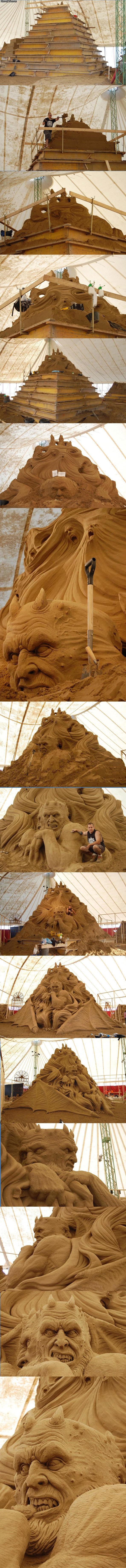 Awesome sand castle. .. i came