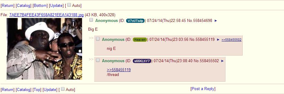 Big E. kek. Return] [Catalog] [Bottom] [Update] [Canuto] 1 I Anonymous( ) / 24/ ) 22: 58: 45 No. 558454698 F Big E my E I Anonamous( ) / ) 23: 08: 40 No. 558455