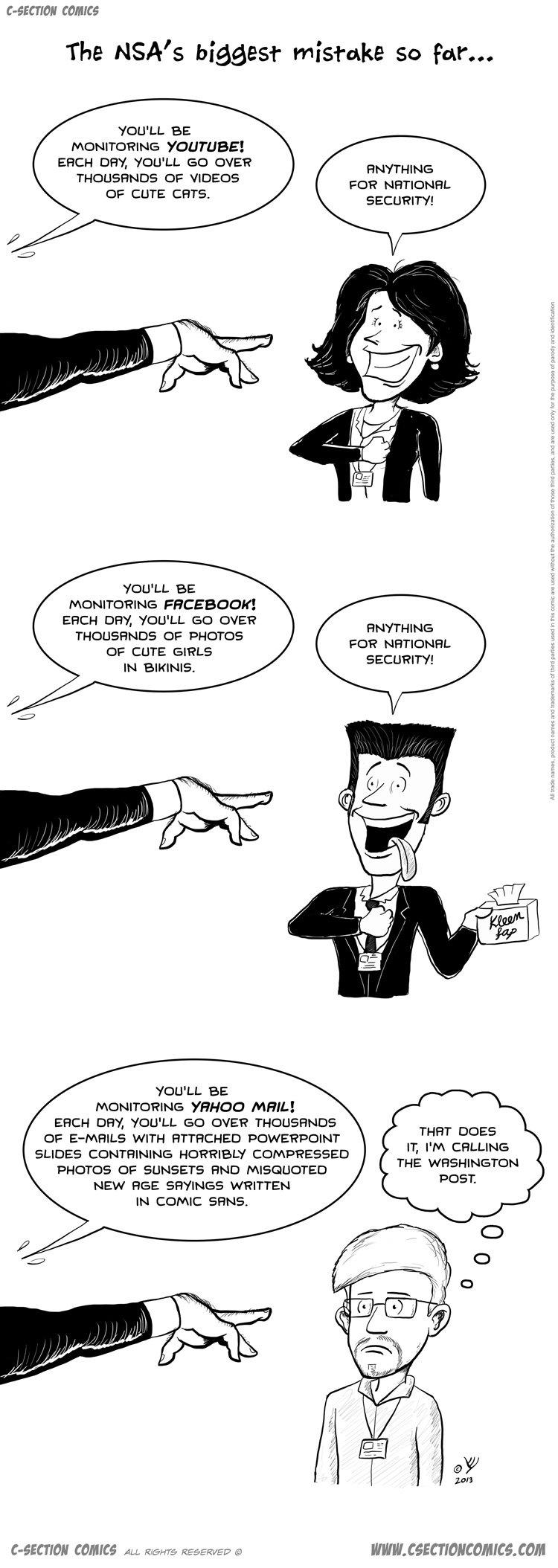 Big mistake, NSA. More cartoons as . The NSA' s biggest so far.,,,, ARCH tom', YDU' LL ED OVER cm CUTE EDITS. RN': -'THINGS SECURITY! LL BE ARCH an as CAER THRU