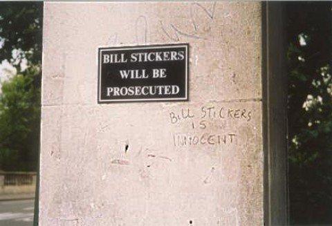 BILL STICKERS. . HILL