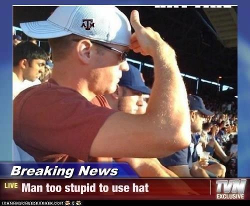 breaking news. . Breaking Ne Mer LIVE Man too stupid to use hat