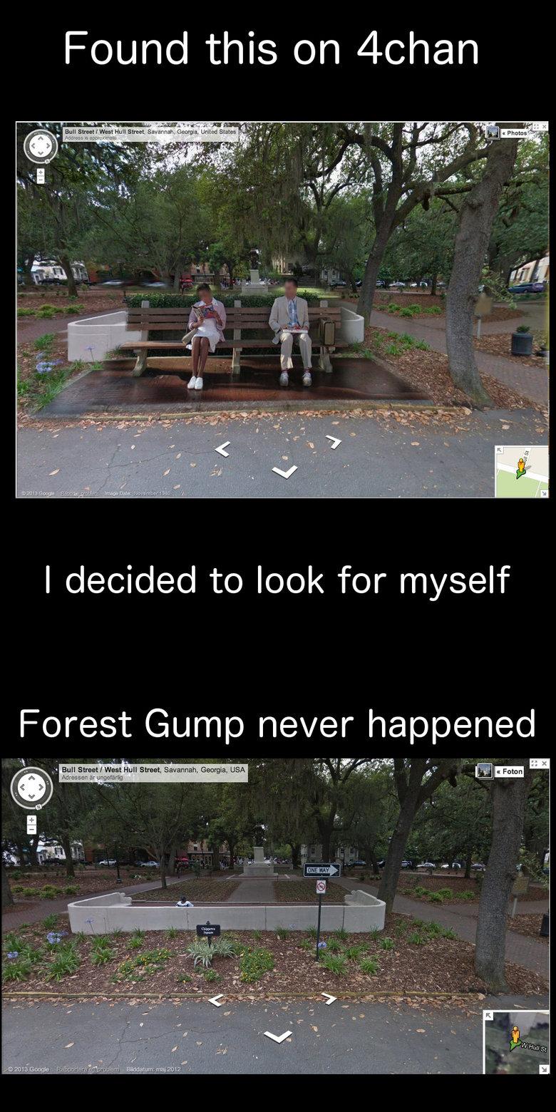 Bull-shit Street. Forest Gump never happened. First upload!.