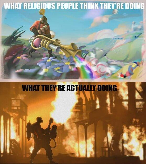 burn shit. .