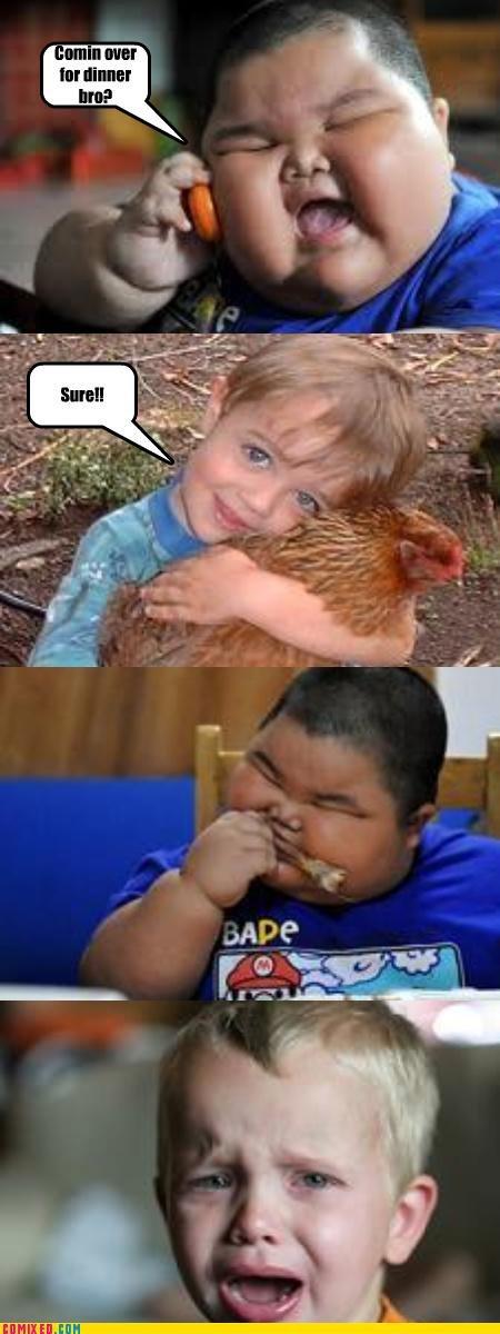 chicken. .