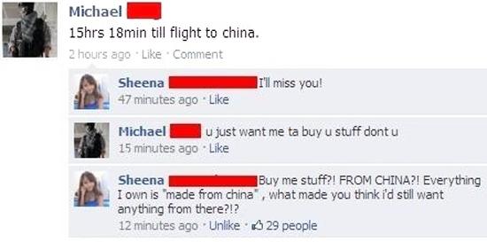 China. . Michael - burnin till flight to china. A, Sheena - miss Vol. 1! minutes ago: . Like 15 minister, we . Like Michael H u just want me ta buy u stuff dent