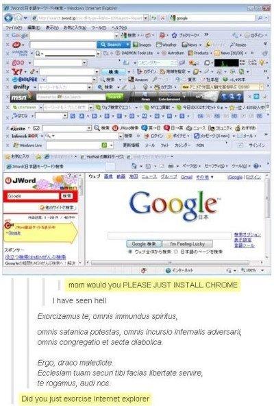 "Chrome. . Goodby 1' billeh mum you PLEASE JUST INSTALL CHROME I have "" en hell re, nitnit; Imeandus animus, wmm patellas, mm fatt) WHEN Ema omma ( a 33513 dhamm"