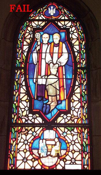 Church Stained Glass Fail. . jth, r