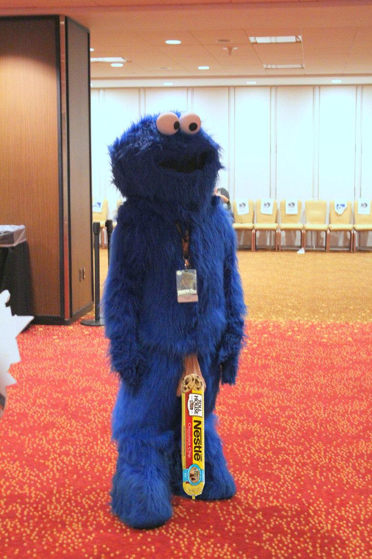 cookie monster know u like cookie dough. .