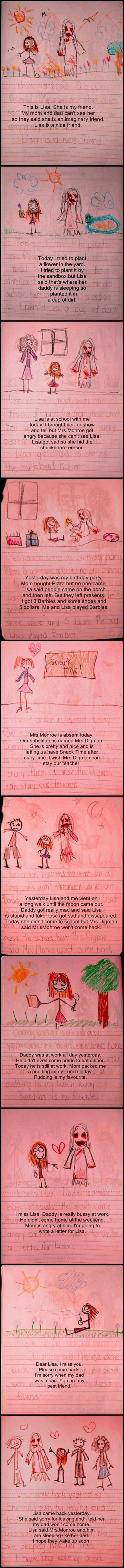 Creepy diary. Little girls are creepy as ..
