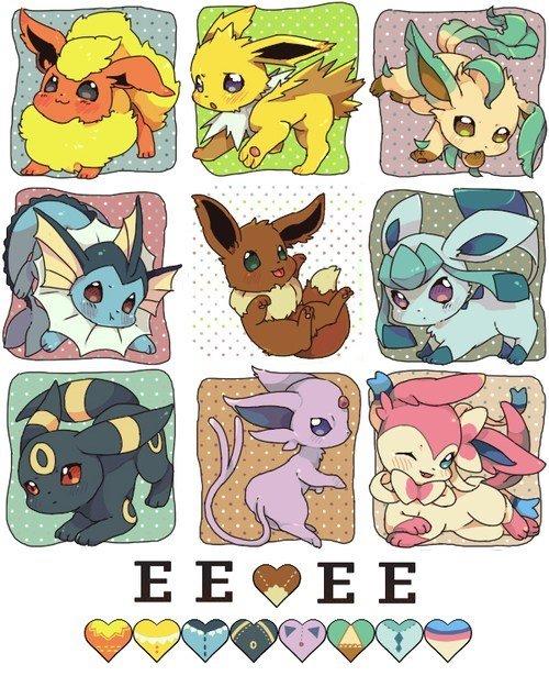 D'aww. Eevee is cute. Credit to 新ブイズ. Yep... Umbreon is best Pokemon