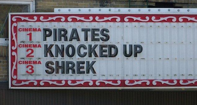 damn pirates. . an an. more like shrek knocked up pirates