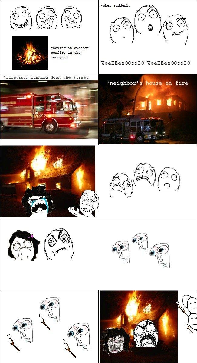 damn marshmallows. 100% OC gief thumbs plox. when suddenly having an awesome bonfire in the E H backyard on fire Fai' PHI