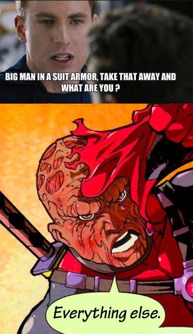 "Deadpool and Captain America. 111% OC.. SHIIT "" 'Hill p"