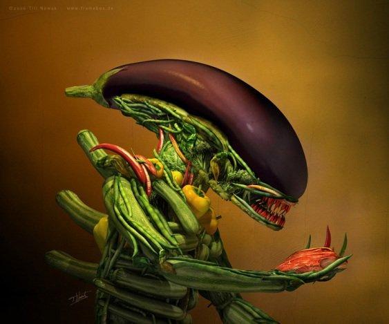 eat your veggies. .