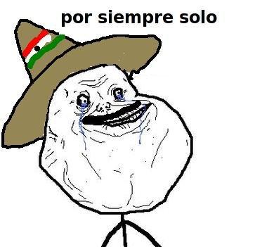 """En ingles?. haha. par siempre salt:. """"como estas?"""" """"por siempre solo"""""""