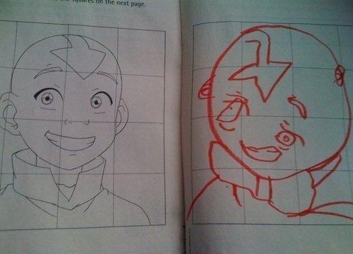 epic drawing fail. yup.. sloth the last airbender