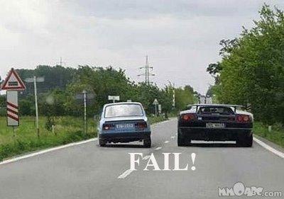fail man fail. .. First!