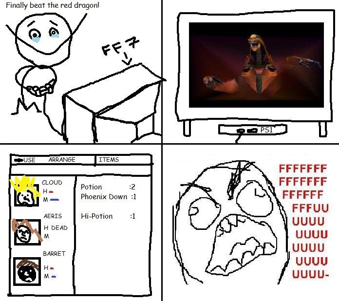 Final Fantasy 7 Painfull Moment. Just somthing that happened to me during my time playing Final Fantasy 7.. Finally beat the red FFCCFF UGUU UGUU UGUU UGUU UGUU