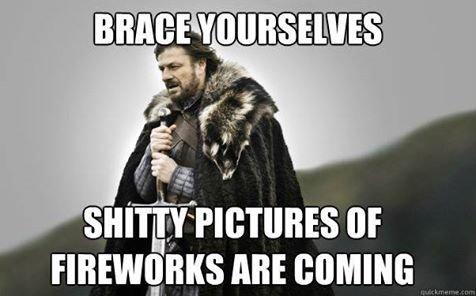 Fireworks. .