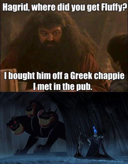 "Fluffy. . Hamill. where dill van get Hum? I haunt him oil a Greek shame I met in the huh.. Actually, Hagrid said ""Irish feller."""