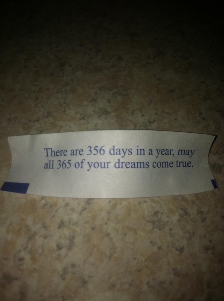 Fortune cookies. .