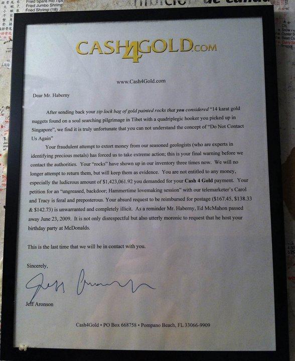"Framed. trollin cash4gold. wwy. Alto sending h. - your rep tral btas / gold painted rare; thatyou ""'' 14 karat goint rungs: -:  ' t: -tam! til: pilgrimage in Ti"