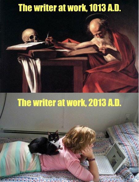 "Freeziepop. . the writer at work. 1013 "". Title"
