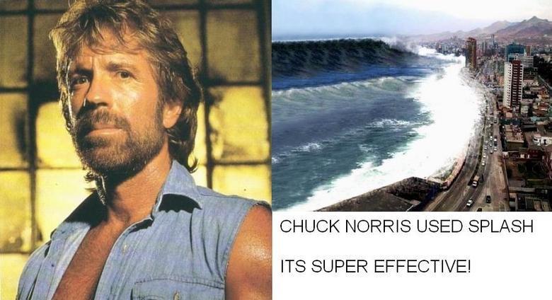 FTW. . CHUCK NORRIS USED FLASH I Iii: ITS SUPER EFFECTIVE!