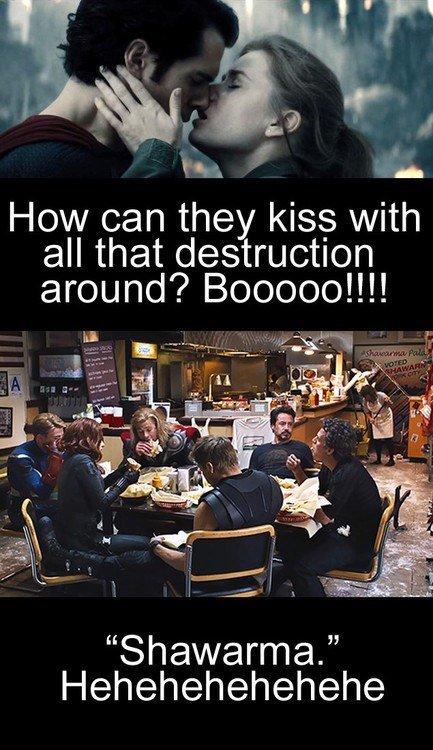 "fuck you dc. . How can they kiss with all that destruction around? Booboo!!!! Shawarma"" Hehehehehehehe. <<<<<<Where's his movie??"