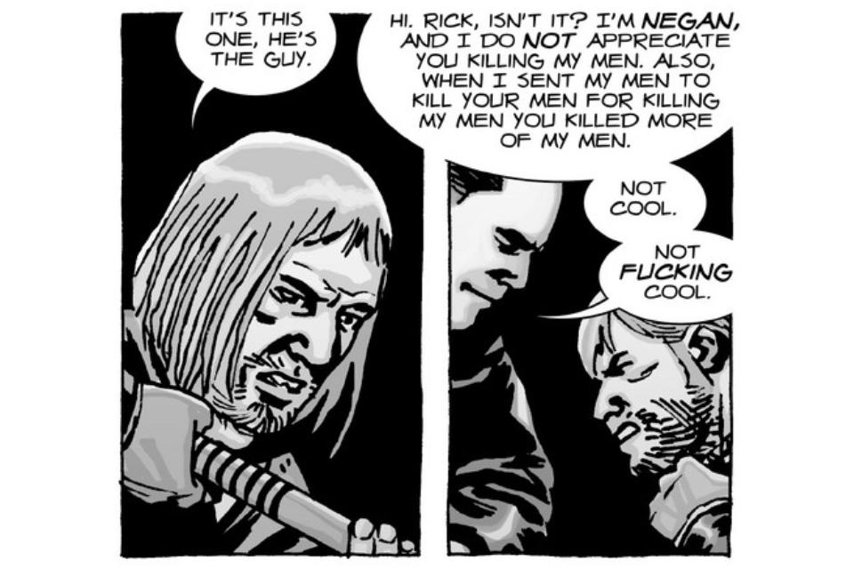 Fun scene from the comic. . AND I DO MOT APPRECIATE mu KILLING My MEN. ALSO. WHEN I AENT My MEN TC) KILL YOUR MEN FOR KILLING MY Meld You KILLED MORE. I've read every comic so far. I just love them!