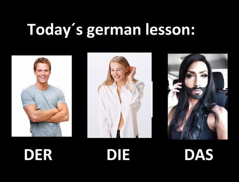 german lesson for future generations. bandwagon OC-ish joke. Today' s ger' t' t' thiat' t lesson:. Das ist eine abomonation