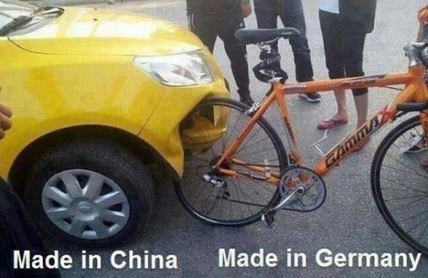 Germany strikes again. . Made in China Made. ii} -Germany. gamma? more like alpha.