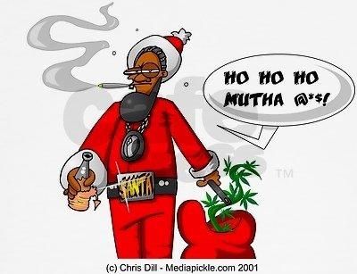 ghetto santa. ho ho ho motha .. Right in time for the holiday season!